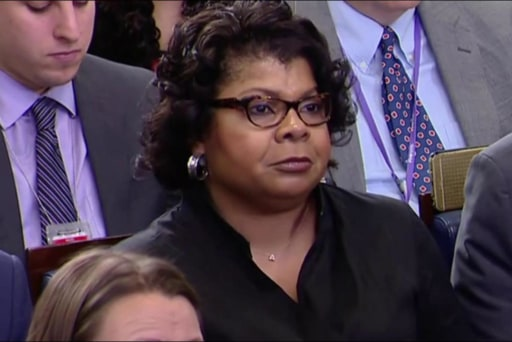 Watch April Ryan's First Question to...