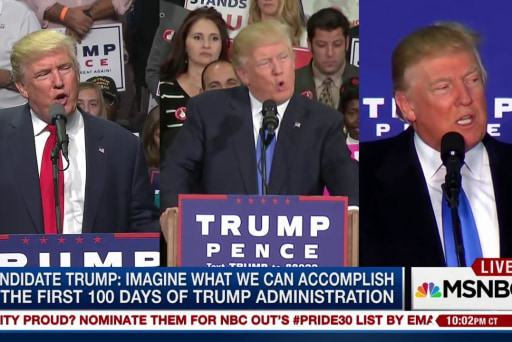 Candidate vs. President: Trump changes his...