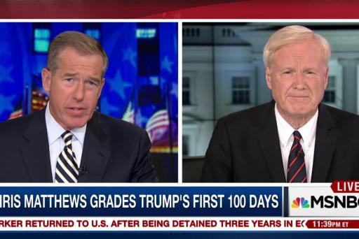 Chris Matthews on Trump's first 100 days: ...