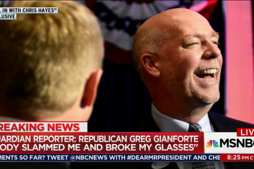 GOP candidate allegedly 'body slams' reporter