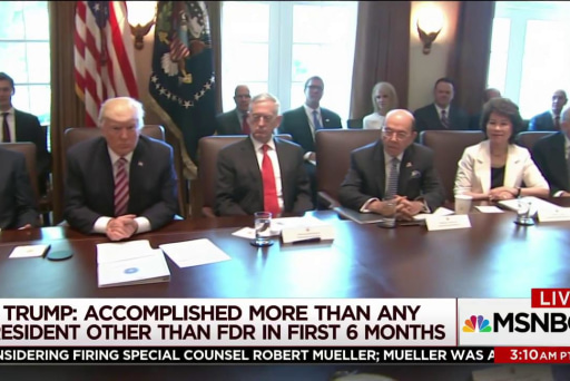 Trump holds 'very sick' cabinet meeting