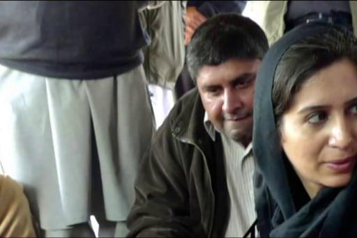 Reporter details her journey behind lines...