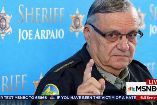Is Trump eyeing Arpaio as pardon practice?