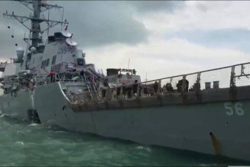 10 sailors missing after U.S. Navy ship...