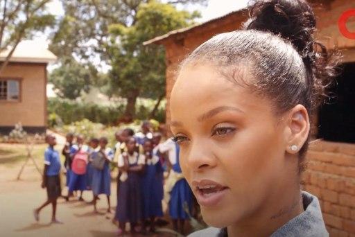 Rihanna Promotes Global Education in Malawi