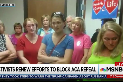 Protesters against Republican Obamacare repeal make it personal
