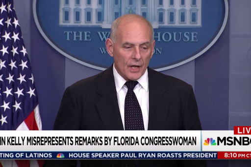 Trump Chief of staff John Kelly lied in attack on Rep. Wilson