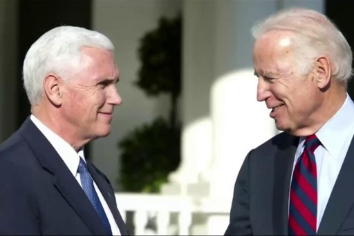 Sometimes Mike Pence, Joe Biden chat on...