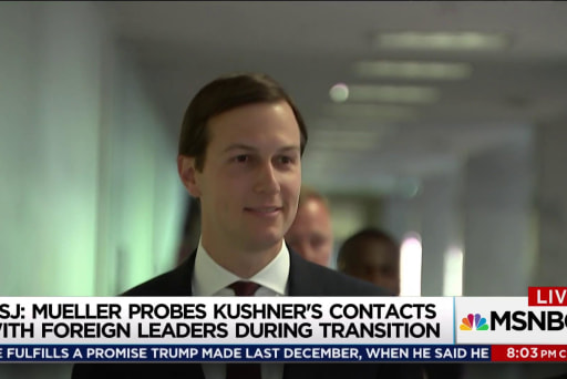 Mueller examining Kushner contacts with foreign leaders: WSJ