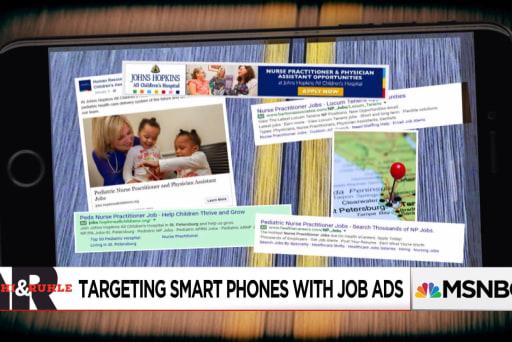 Targeting phones with job postings