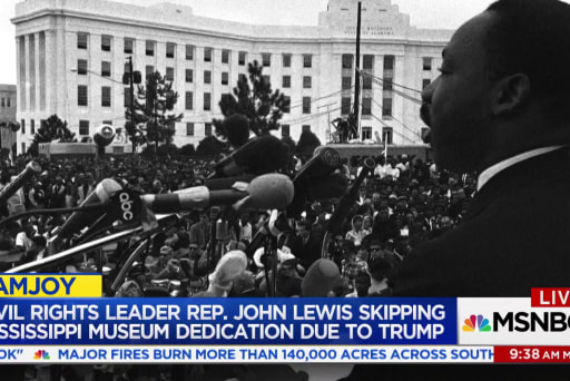 Protests, boycotts as Trump dedicates MS civil rights museum