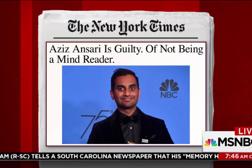 Bari Weiss: Problematic to lump Ansari story in with #MeToo
