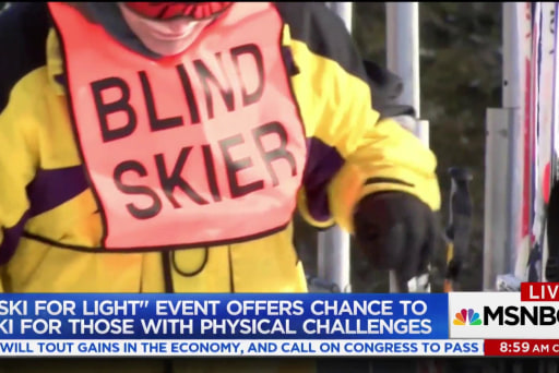 Good news: Visually impaired get a chance to ski