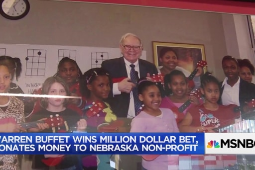 Good news somewhere: Warren Buffet's million dollar donation