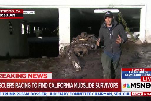Rescuers racing to find CA mudslide survivors