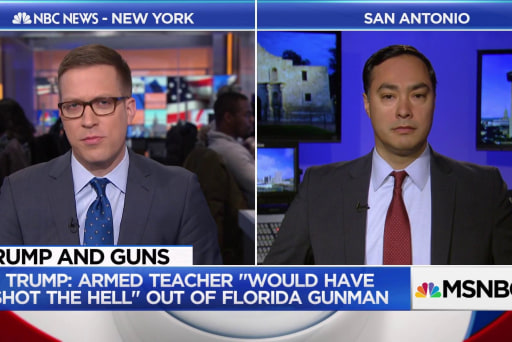 Rep. Joaquin Castro Speaks Out Against Trump's Proposal to Arm Teachers