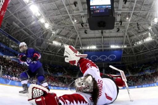 Big Picture:  USA women's hockey team gold-winning shot