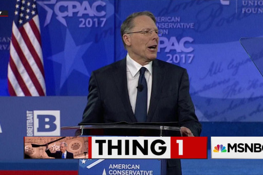 CPAC leaves LaPierre's name off schedule to avoid protests