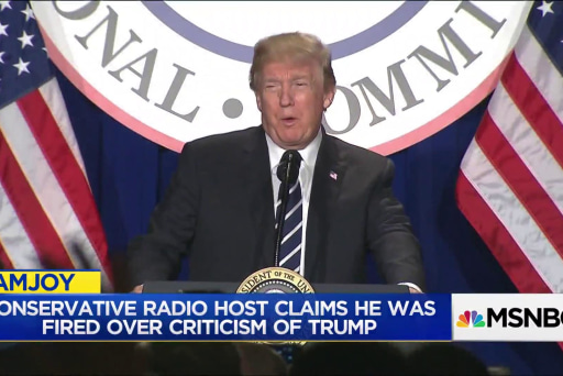 Conservative radio show host says he was fired after Trump critiques
