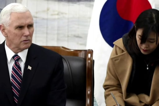 Pence signals a change in policy towards N. Korea