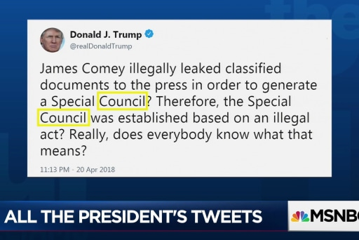 Misspellings & wrong words: A day in the life of Trump's Twitter