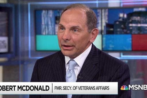 'Our veterans deserve better': Former VA Secretary McDonald