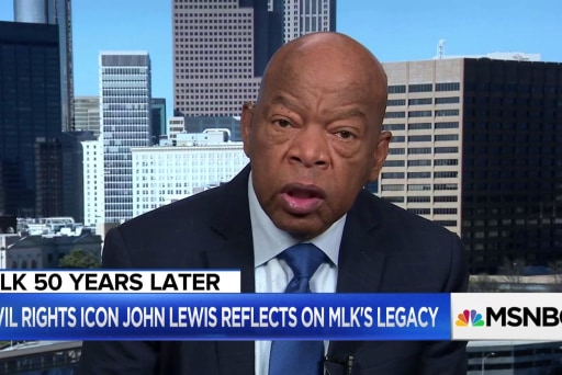 Rep. John Lewis marks the 50th anniversary of MLK's assassination