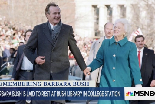 Page: Bush's funeral was like her – crisp, funny & unpretentious