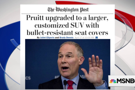 One More Thing: Pruitt spending more American tax dollars