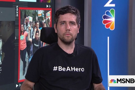 """Ady Barkan launches new campaign asking everyone to """"Be A Hero"""""""