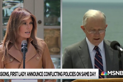 Trump anti-family border policy tramples Melania message on kids