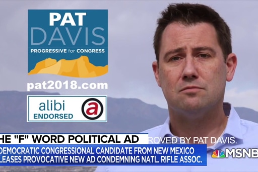 Candidate says 'f*** the NRA' to spark gun control debate