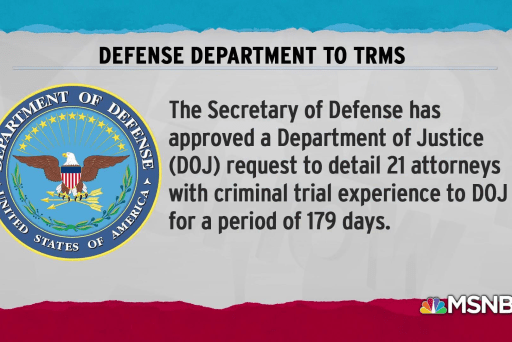 DoD agrees to DoJ request for extra lawyers on immigration cases