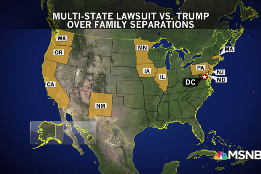 Multiple states sue Trump admin to stop family separation policy