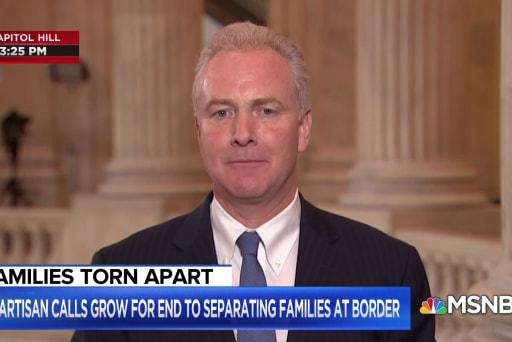 'It's all on you Mr. President', says Sen. Chris Van Hollen on family separation