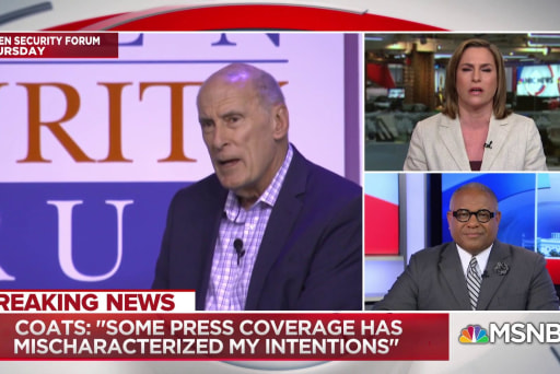 DNI Coats: I 'in no way meant to be disrespectful' to President
