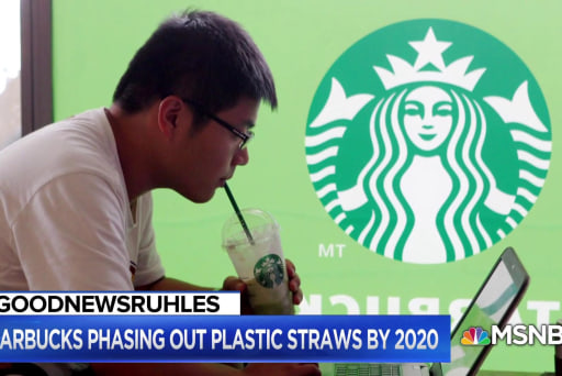 GoodNewsRUHLES: Starbucks to phase out all plastic straws by 2020