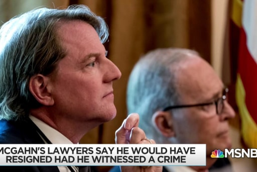 'Sources' give McGahn notably consistent positive media coverage