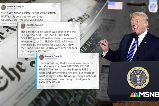 Hundreds of newspapers criticize Trump's anti-media attacks