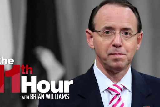 Wash Post: Trump doesn't trust Rosenstein after NYT story