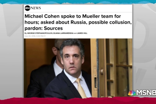 Michael Cohen talked Trump Russia with Mueller for hours: reports