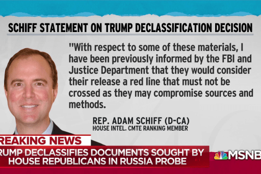 Trump declassifies Russia investigation docs, security be damned