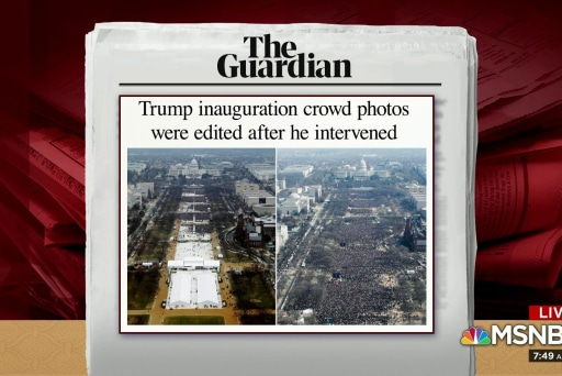 Trump intervened on inauguration crowd pics