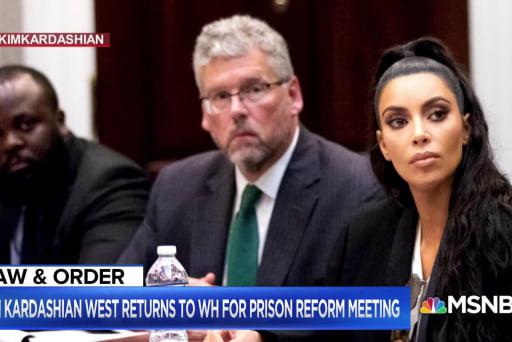 Kim Kardashian West returns to DC to discuss prison reform