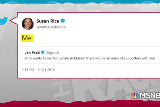 Susan Rice raises specter of challenging Susan Collins in 2020