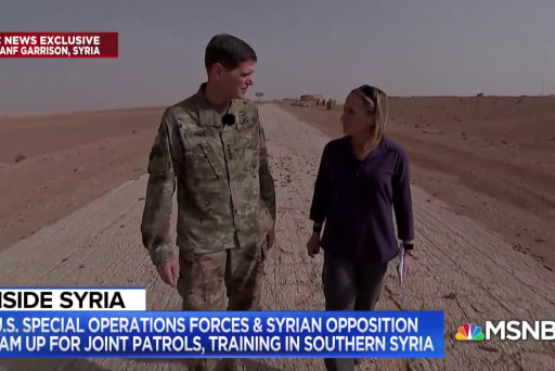 NBC News Exclusive: Inside a key military base in Syria