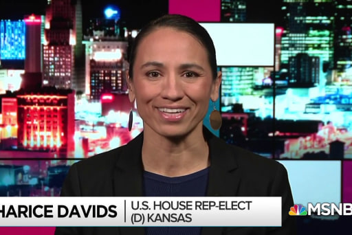 Sharice Davids flips Kansas seat, makes history on many fronts