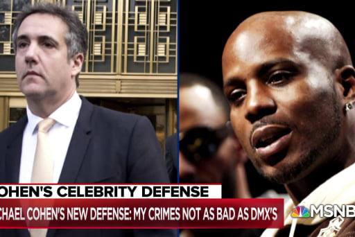Michael Cohen's criminal defense: My crimes not as bad as DMX's