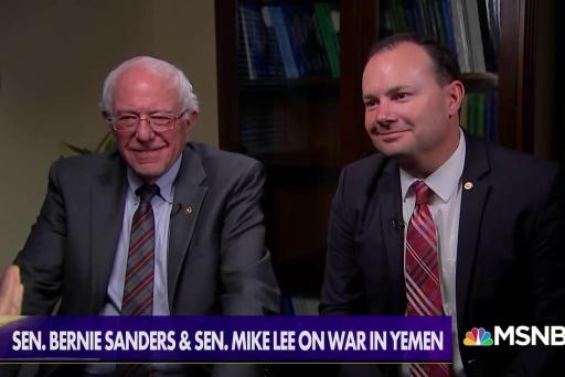 Sens. Sanders & Lee: U.S. involvement in Yemen 'unauthorized' and 'unconstitutional'