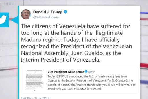 """All options are on the table"": Trump speaks out on Venezuela"